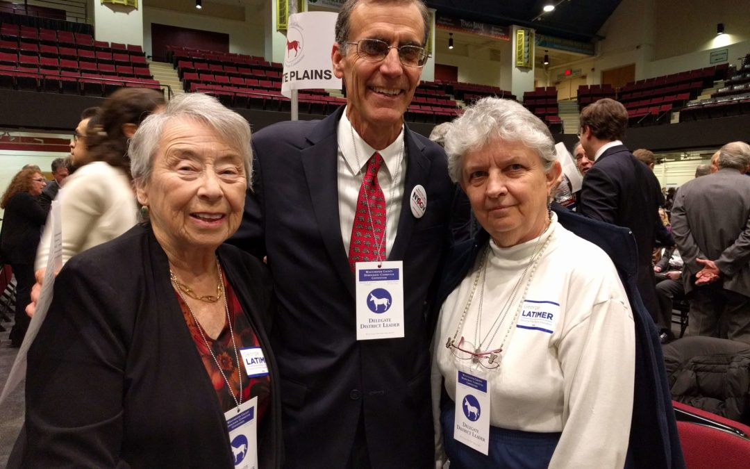 District Leaders from New Rochelle meet at the Westchester Democratic Convention